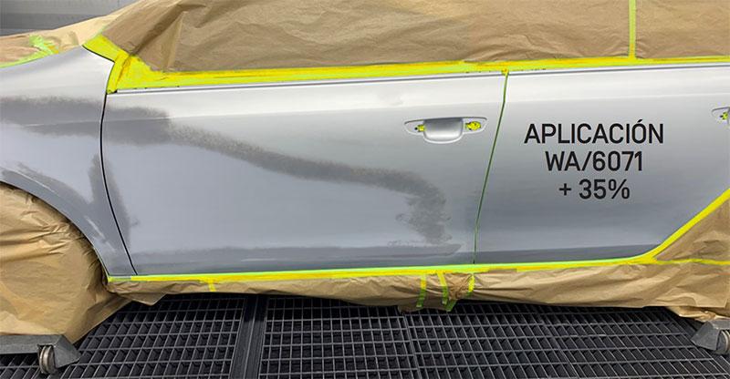Aplicación pintura base agua SINNEK para difuminado