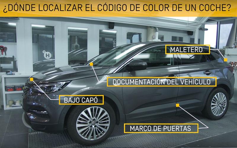 Localizar código de color en el coche