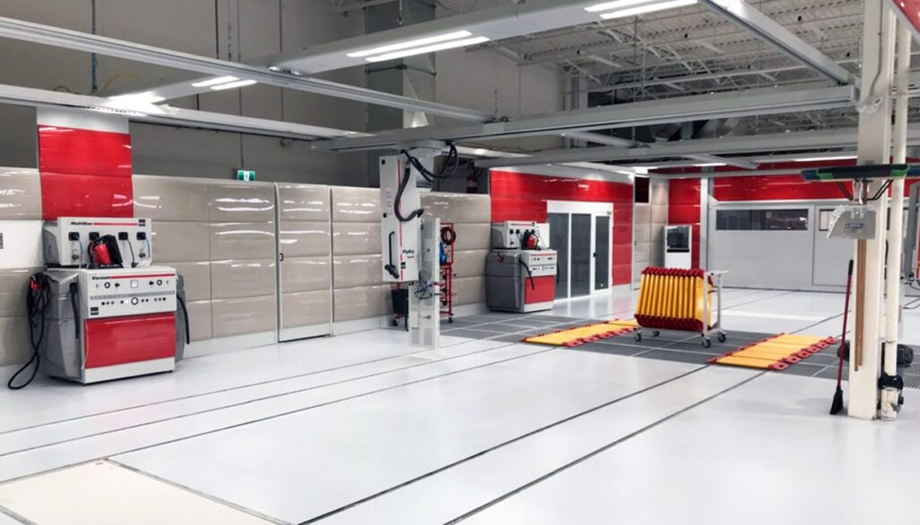 Atelier de carrosserie propre