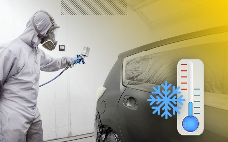 Pintar coche con frío