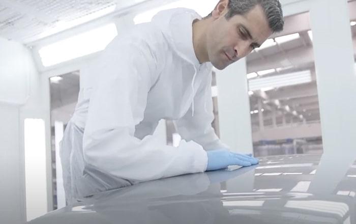 inspección de pieza reparada